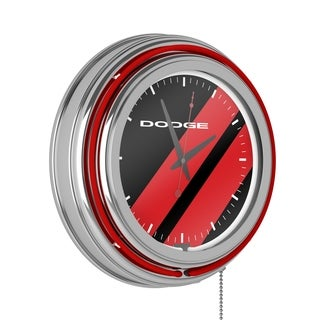 Dodge Neon Clock - Big Stripe