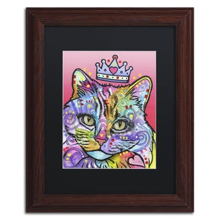 Dean Russo 'Love Cat 5' Matted Framed Art
