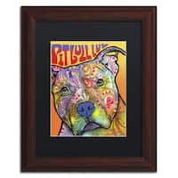 Dean Russo 'Pit Bull Luv' Matted Framed Art