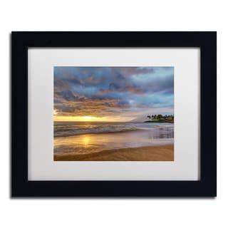 Pierre Leclerc 'Secret Beach Sunset' Matted Framed Art