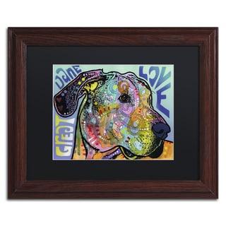 Dean Russo 'Great Dane Luv' Matted Framed Art