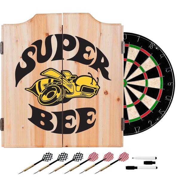 Dodge Dart Board Set with Cabinet - Super Bee