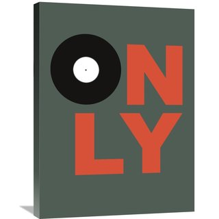 Naxart Studio 'Only Vinyl Poster 2' Stretched Canvas Wall Art