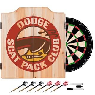 Dodge Dart Board Set with Cabinet - Scat Pack