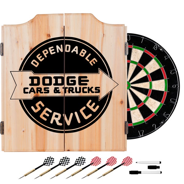 Dodge Dart Board Set with Cabinet - Dodge Service