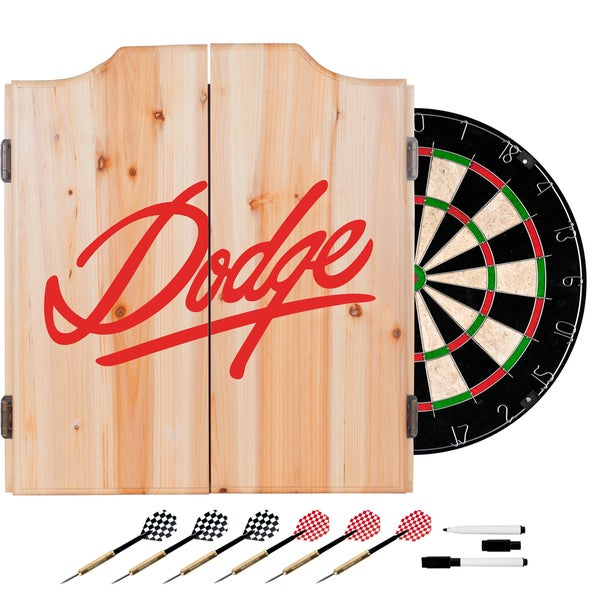Dodge Dart Board Set with Cabinet - Signature