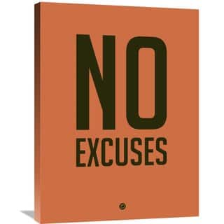 Naxart Studio 'No Excuses 3' Stretched Canvas Wall Art