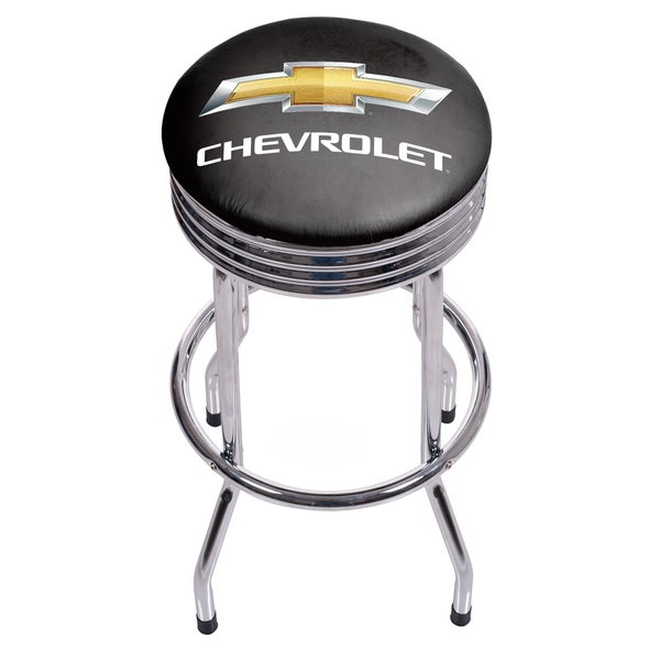 Chevrolet Chrome Ribbed Bar Stool