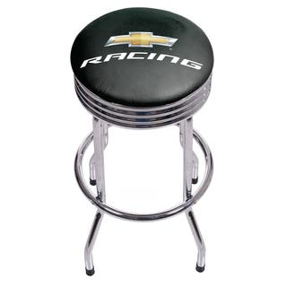 Chevrolet Chrome Ribbed Bar Stool - Racing|https://ak1.ostkcdn.com/images/products/12982244/P19729412.jpg?impolicy=medium