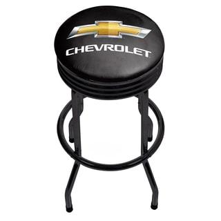 Chevrolet Black Ribbed Bar Stool
