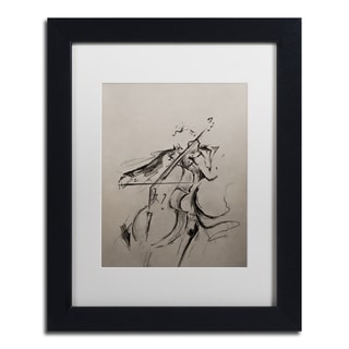 Marc Allante 'The Cellist Sketch' Matted Framed Art