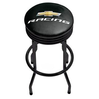 Chevrolet Black Ribbed Bar Stool - Racing