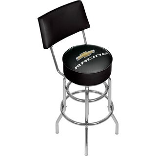Chevrolet Swivel Bar Stool with Back - Racing