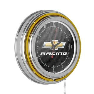 Chevrolet Chrome Double Rung Neon Clock - Racing|https://ak1.ostkcdn.com/images/products/12982284/P19729403.jpg?impolicy=medium