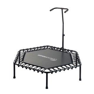 Upper Bounce 50-inch T-shaped Adjustable Hand Rail Bungee Cord Suspension Hexagonal Fitness Mini-trampoline|https://ak1.ostkcdn.com/images/products/12982287/P19729581.jpg?_ostk_perf_=percv&impolicy=medium