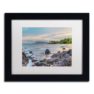 Pierre Leclerc 'Secret Beach Sunrise Maui' Matted Framed Art