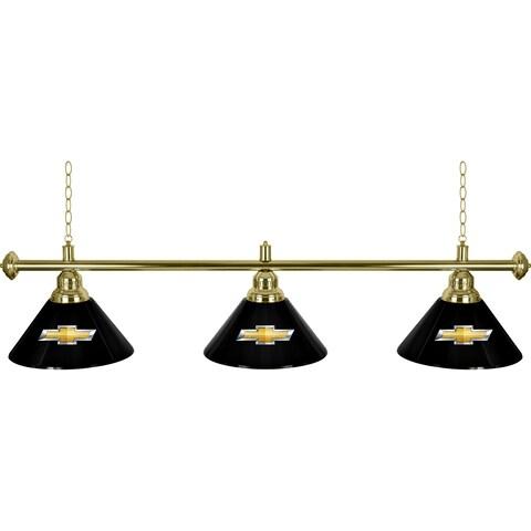 Chevrolet 3 Shade Brass Billiard Lamp