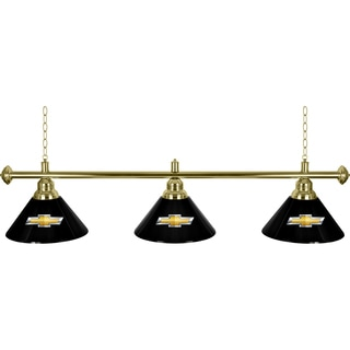 Chevrolet 3 Shade Brass Billiard Lamp