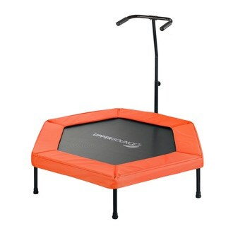 Upper Bounce Orange 50-inch Hexagonal Fitness Adjustable Hand Rail Mini-trampoline