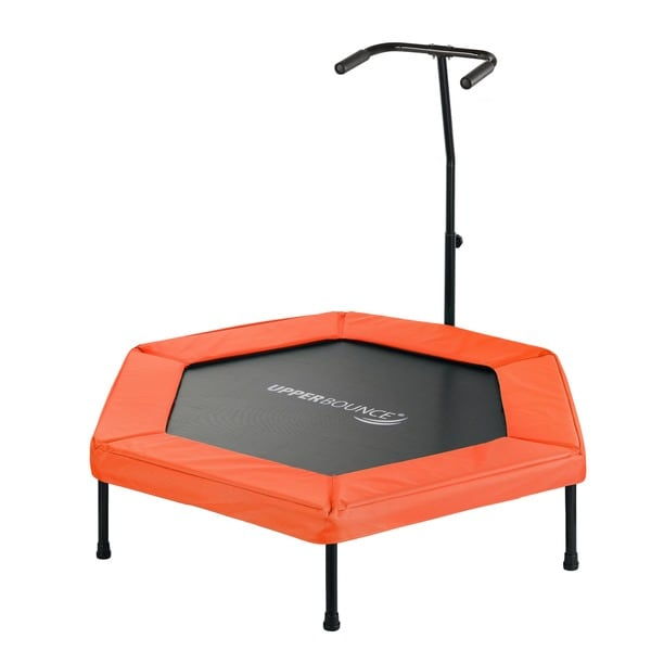 Upper Bounce Orange 50-inch Hexagonal Fitness Adjustable Hand Rail Mini-trampoline