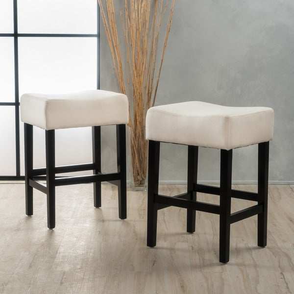 Lopez 27-inch Fabric Backless Counter Stool (Set of 2) by Christopher Knight Home. Opens flyout.