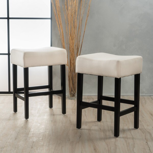 Shop Lopez 27 Inch Fabric Backless Counter Stool Set Of 2