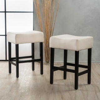 Lopez 27-inch Fabric Backless Counter Stool (Set of 2) by Christopher Knight Home