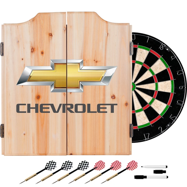 Chevrolet Dart Board Set with Cabinet
