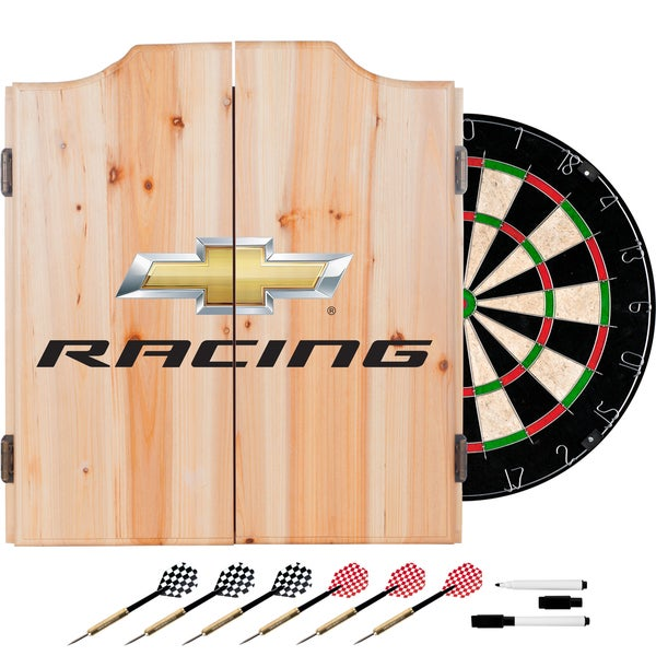 Chevrolet Dart Cabinet Set with Darts and Board - Racing