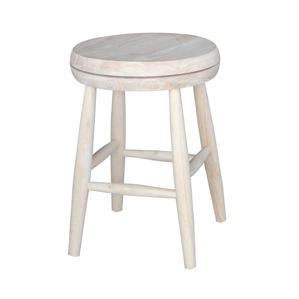 Shop Tan 18 Inch Swivel Scooped Seat Stool Free Shipping