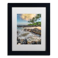 Pierre Leclerc 'Makena Sunrise' Matted Framed Art