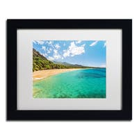Pierre Leclerc 'Makena Beach Maui' Matted Framed Art