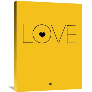 Naxart Studio 'Love Poster Yellow' Stretched Canvas Wall Art