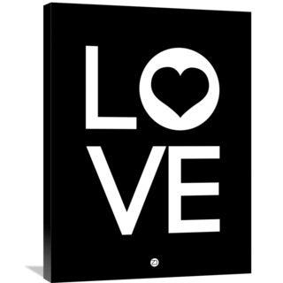 Naxart Studio 'Love Poster 3' Stretched Canvas Wall Art