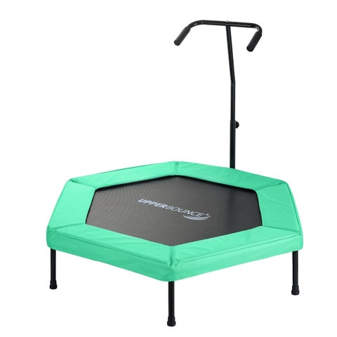 Upper Bounce Green 50-inch Hexagonal Adjustable Hand Rail Fitness Mini-trampoline