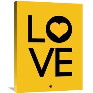 Naxart Studio 'Love Poster 1' Museum-quality Stretched Gallery-wrapped Canvas Wall Art