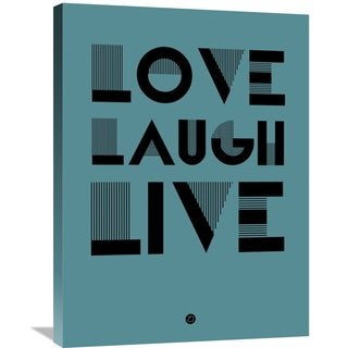 Naxart Studio 'Love Laugh Live Poster 4' Stretched Canvas Wall Art