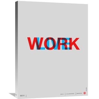 Naxart Studio 'Live Work' Stretched Canvas Wall Art