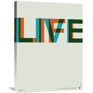 Naxart Studio 'Live Life Poster 2' Stretched Canvas Wall Art