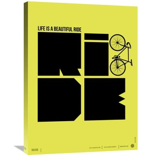 Naxart Studio 'Life is a Ride Poster' Stretched Canvas Wall Art