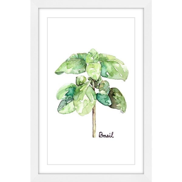Marmont Hill - 'Herb Basil' by Rachel Byler Framed Painting Print - Multi
