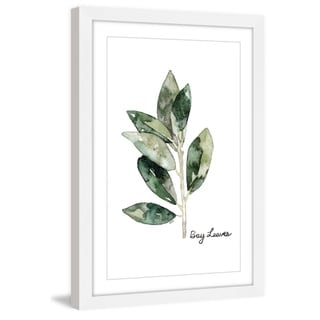 Marmont Hill - 'Herb Bay Leaves' by Rachel Byler Framed Painting Print