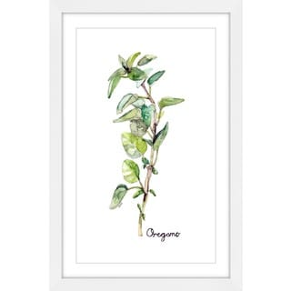 Marmont Hill - 'Herb Oregano' by Rachel Byler Framed Painting Print