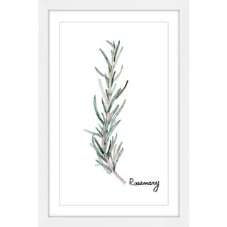 Marmont Hill - 'Herb Rosemary' by Rachel Byler Framed Painting Print