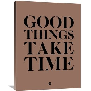 Naxart Studio 'Good Things Take Time 3' Stretched Canvas Wall Art