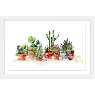 Marmont Hill - 'Potted Plants' by Rachel Byler Framed Painting Print