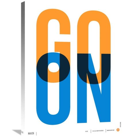 Naxart Studio 'Go On Poster 1' Stretched Canvas Wall Art