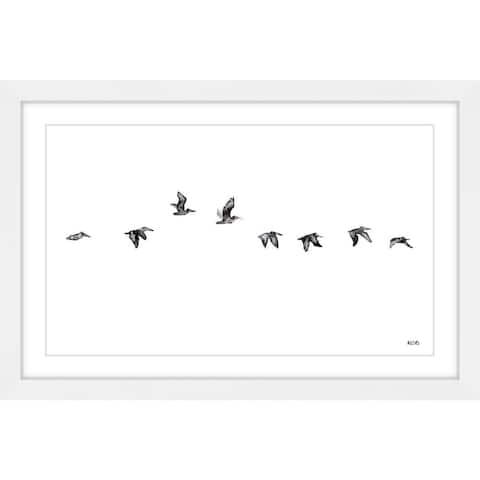 Marmont Hill - Handmade The Squadron Framed Print