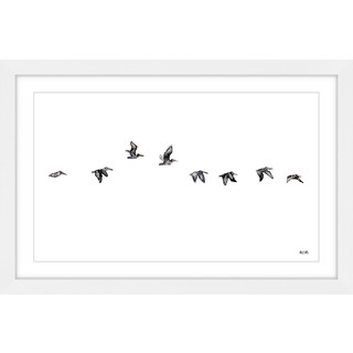 Marmont Hill - 'The Squadron' by Rachel Byler Framed Painting Print