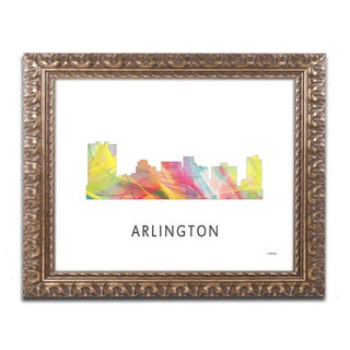 Marlene Watson 'Arlington Texas Skyline WB-1' Ornate Framed Art